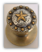 Star Berry - Antique brass Door Knob (Non -Lockable) (SKU: KB-797-AB)