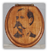 """Take Your Time, But Do It Quickly!"" Wyatt Earp Toilet Seat (SKU: Wyatt Earp)"