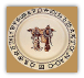Boots & Saddle Dinner Plate (SKU: BS01)