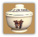 Boots & Saddle Sugar Bowl with Lid (SKU: BS09)