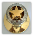 Gold Star w/Etching -Gold (Door Knob)  (Lockable)