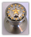 Star w/ Gold Berries (Lockable) Door Knobs (SKU: KBL-8497-SS)