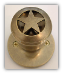 Ranger Star- Antique Brass Knob -(Lockable)Door Knob
